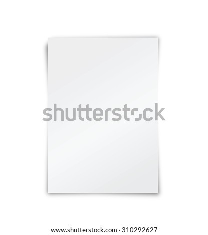 A simple blank paper background/Blank paper - stock photo