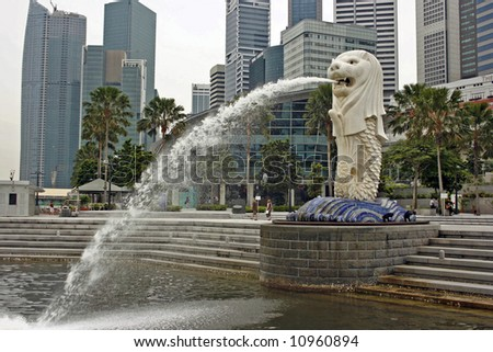 A Singapore merlion - stock photo
