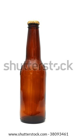 a single bottle beer - stock photo