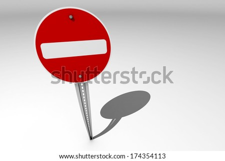 A single do not enter / wrong way traffic sign over a bright background - stock photo