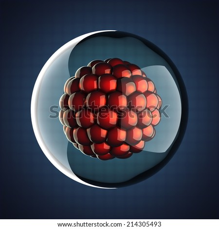 A single micro cell scientific illustration - stock photo