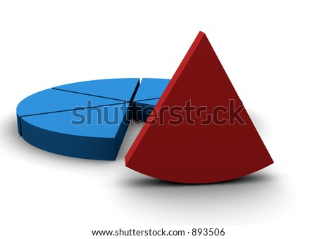 a single piece stick out from the rest - stock photo