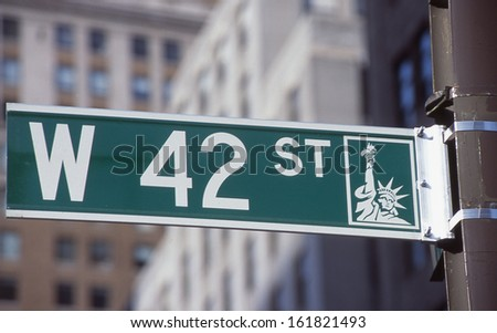 A single street sign in New York City. - stock photo