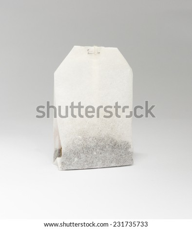 A single tea bag - stock photo