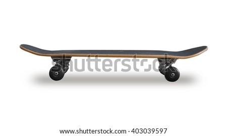 A skateboard on white - stock photo