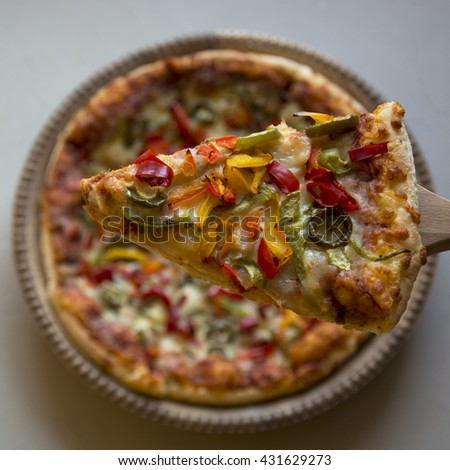 A Slice of Pizza - stock photo
