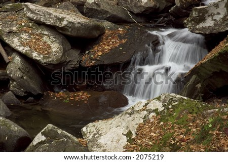 A small cascade in the forests of West Virginia. - stock photo