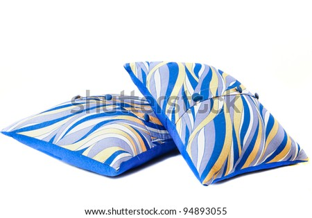 a small cushion for a sofa isolated - stock photo