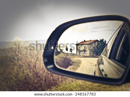A small farmhouse  - stock photo