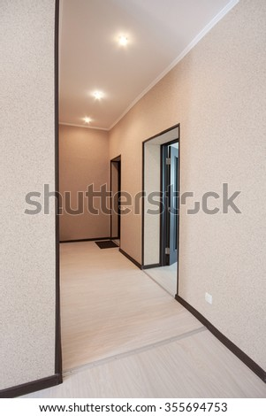 A small hallway in the apartment. Interior - stock photo