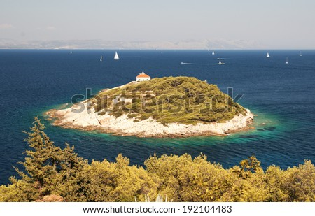A small island near the island of Vis - Croatia - stock photo
