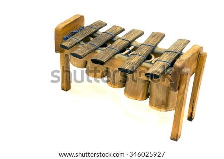 A small percussion instrument called marimba - stock photo