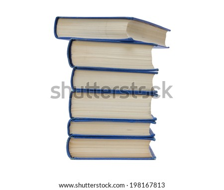 A small pile of the books isolated on white background - stock photo