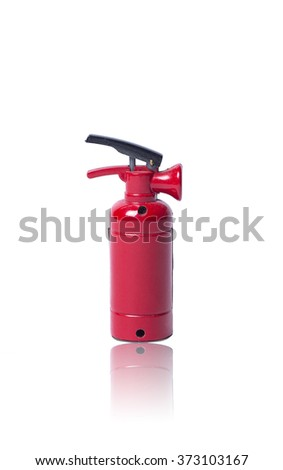 a small red fire extinguisher - stock photo