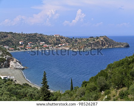 A small seaside village in Peloponnese in Greece - stock photo