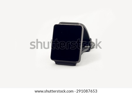 A smartwatch on a seamless white background. - stock photo