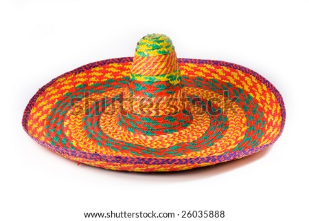 A sombrero isolated on a white background - stock photo