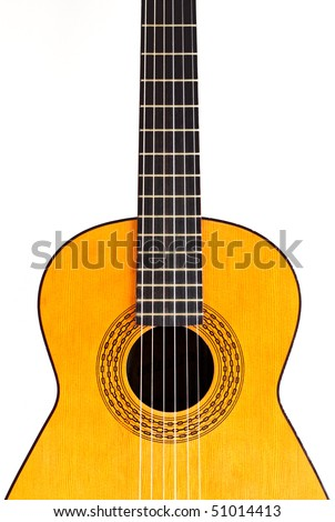 "A spanish guitar (also called ""classic guitar""). - stock photo"