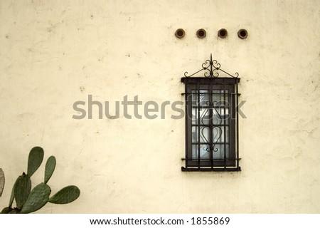 A Spanish style window. - stock photo