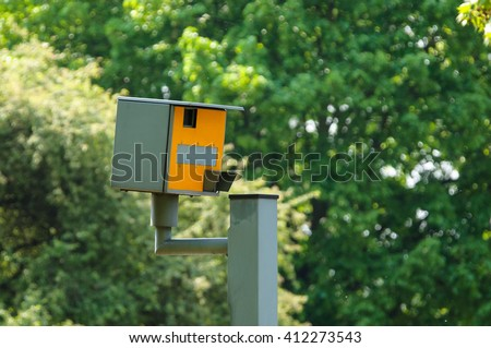A speed camera in London,UK - stock photo