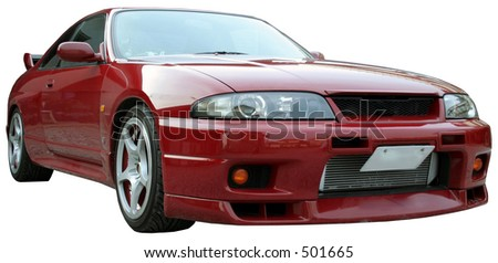 a sports car (isolated w/clipping path) - stock photo
