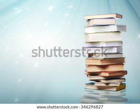 A stack of books - stock photo