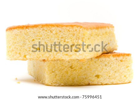 A stack of corn bread slices - stock photo