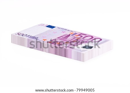 A Stack of 500 Euro Banknotes - stock photo