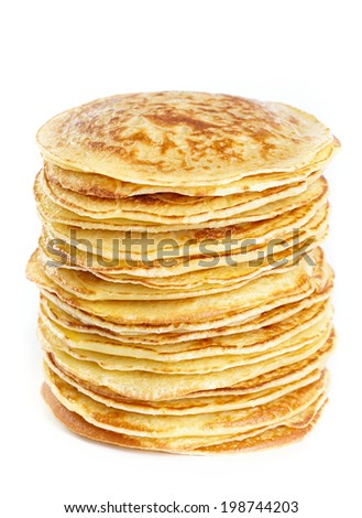 A stack of pancakes - stock photo