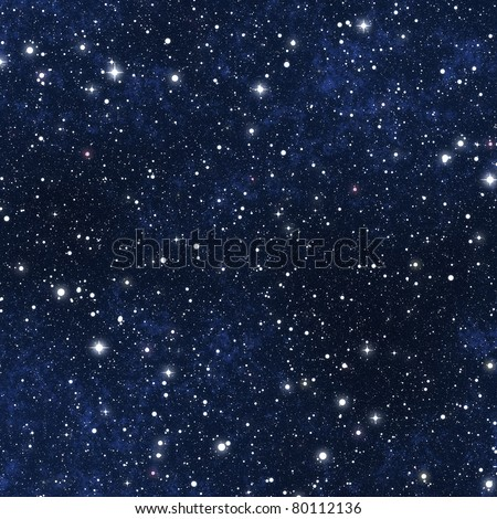 a star filled night sky background texture - stock photo