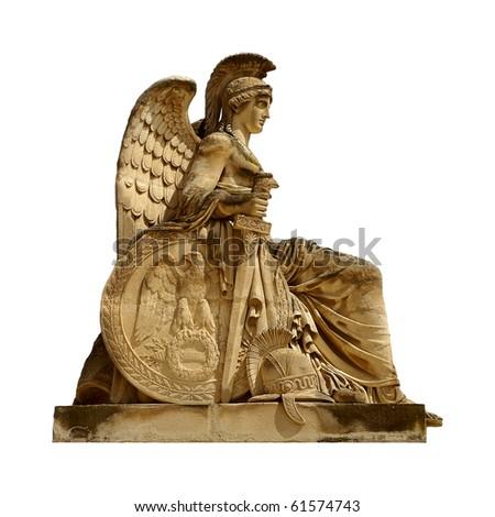 A Statue at the Arc de Triomphe du Carrousel, Paris, France - stock photo
