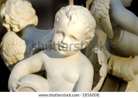A statue of an angel. - stock photo