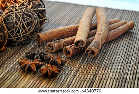 A Still Life - The Christmas decorations - stock photo