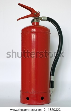 a stored- pressure fire extinguisher in ABC class - stock photo