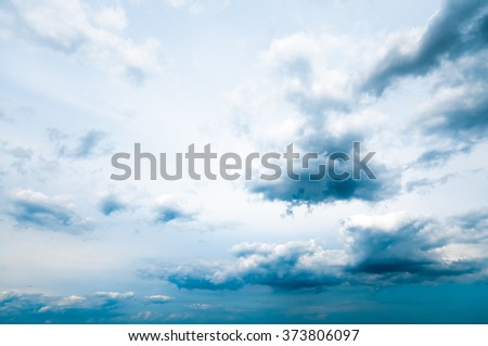 A storm is approaching; Dark clouds on the horizon - stock photo