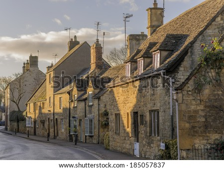 A street in chipping campden  cotswolds gloucestershire midlands england uk - stock photo