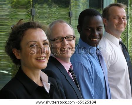 A strong team - stock photo