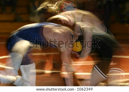 A struggle. Wrestlers in motion. - stock photo
