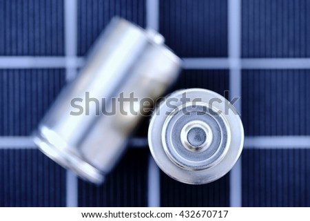 A studio photo close up of a battery - stock photo