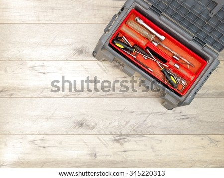 A studio photo of a industrial tool box - stock photo