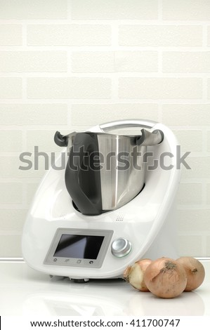 A studio photo of a kitchen food cooking appliance - stock photo