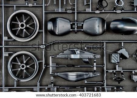 A studio photo of a plastic model kit - stock photo