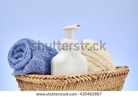 A studio photo of a soap dispenser - stock photo