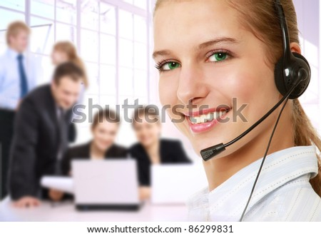 A successful business team - stock photo