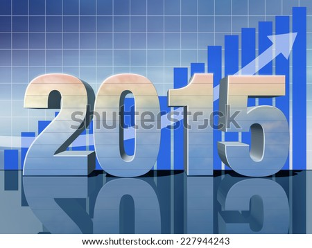 A successful new year - stock photo