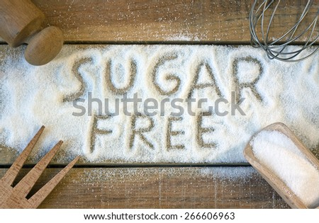 a sugar free word with background - still life  - stock photo