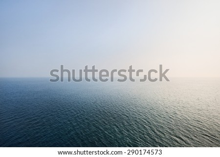A sunrise at the open Baltic sea - stock photo
