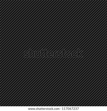 A super realistic carbon fiber background that tiles seamlessly as a pattern.  The weave is tight and finer. - stock photo