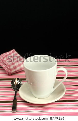 A table set for a coffee break - stock photo