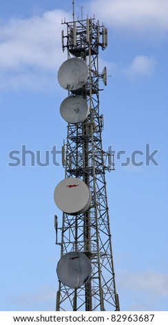 a tall areal on a sky background - stock photo